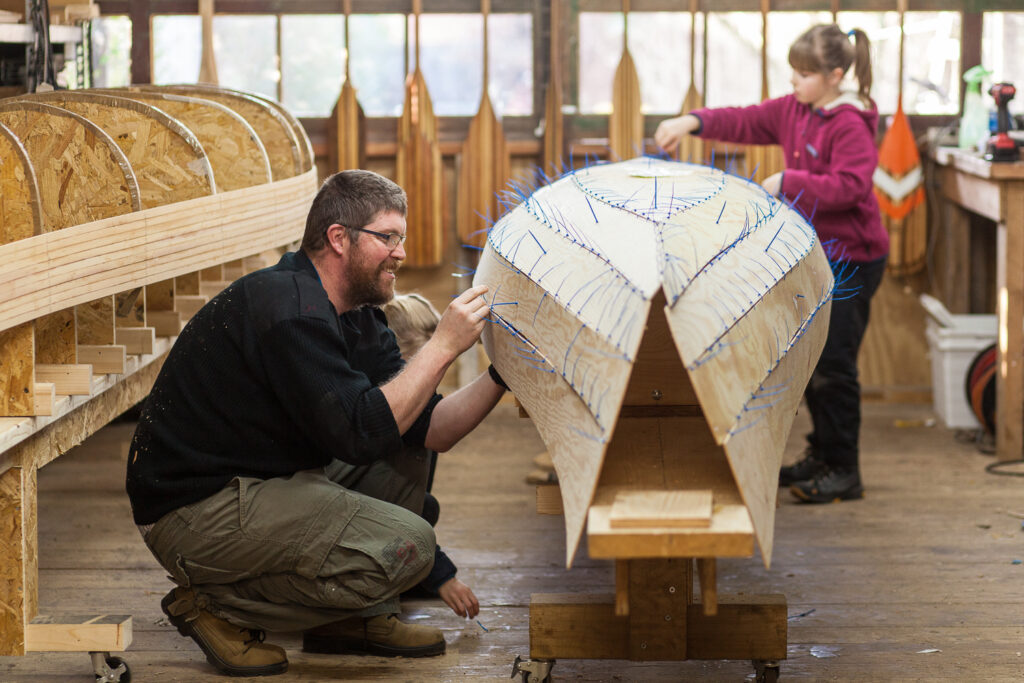 Canoe building course – Stitch and glue – Group