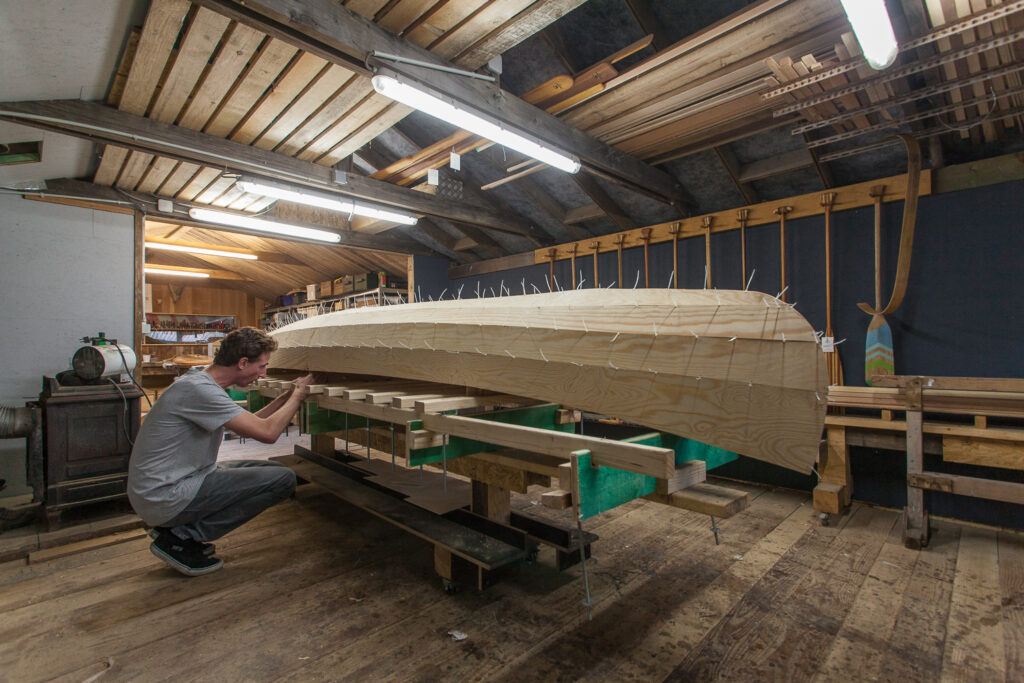 Canoe building course - Stitch and glue - Group