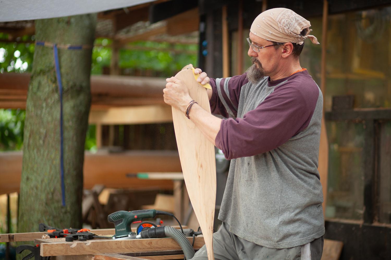 Canoe paddle workshop