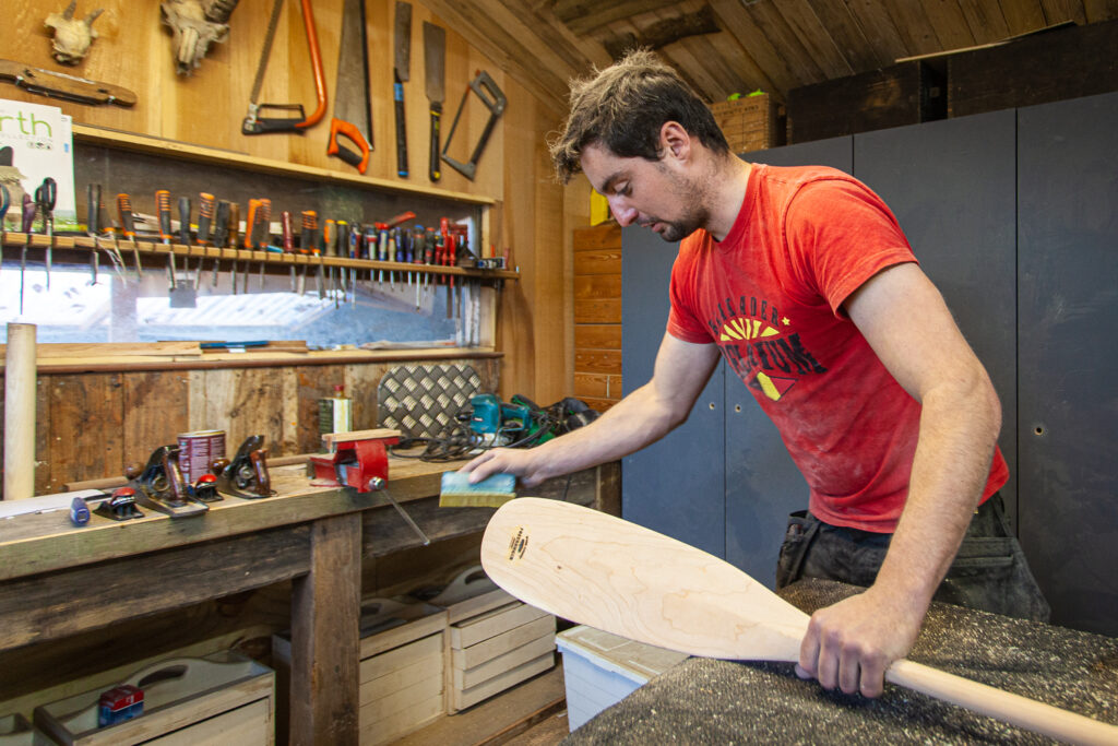 Canoe paddle workshop