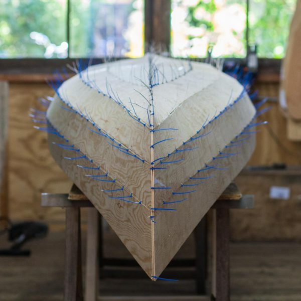 individual stitch and glue canoe building course