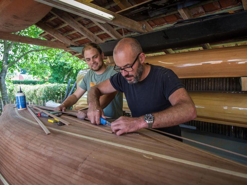 Building an Abenaki river canoe