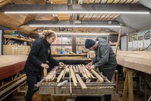 Laminated canoe paddle workshop