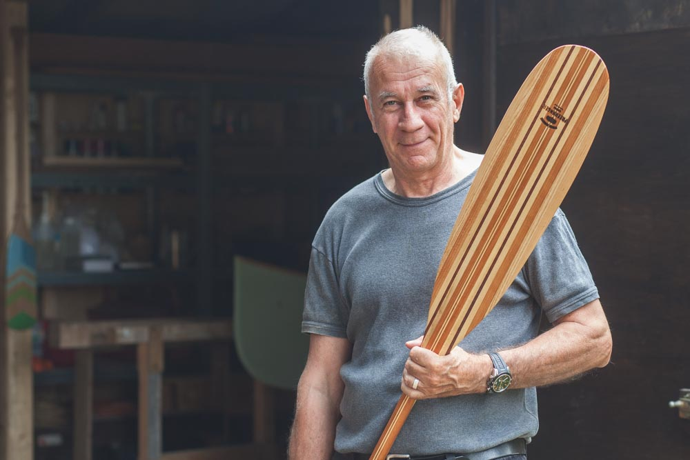 Making your own laminated wooden canoe paddle