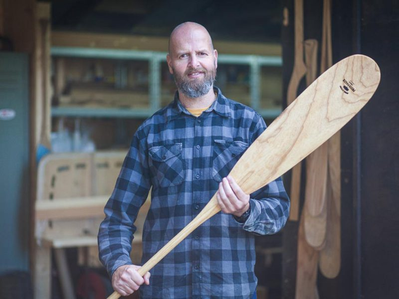 Making a beavertail canoe paddle