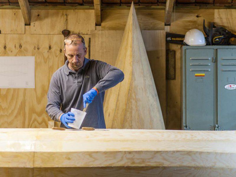 Building a stitch and glue canoe