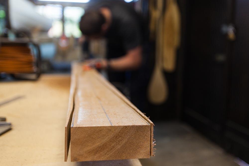 making a Greenland paddle