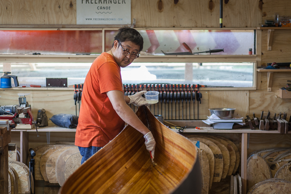Freeranger Canoe 10-day wooden canoe building course