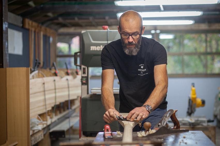 Milieuvriendelijke houten roeiriemen