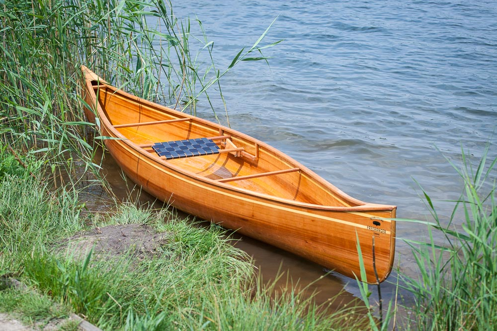 Wooden Canoe at Freeranger Canoe