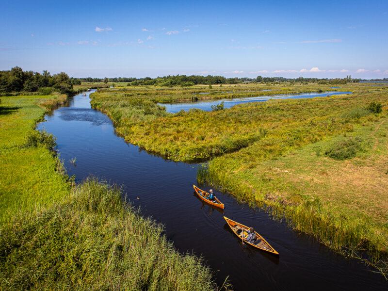 Canoeing in the Weerribben-Wieden