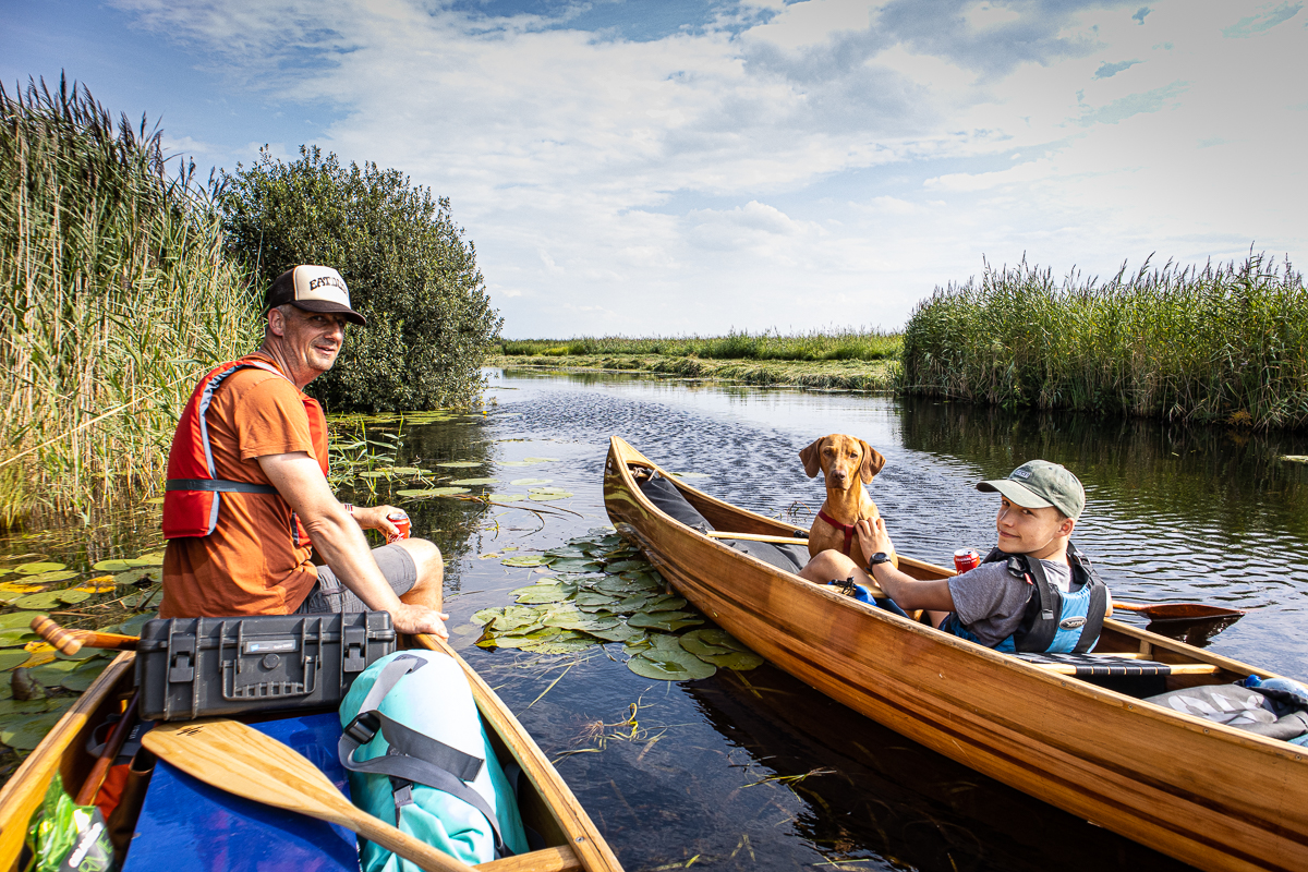 canoeing in the Weerribben-Wieden
