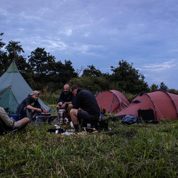 Canoe camping in the weerribben-wieden