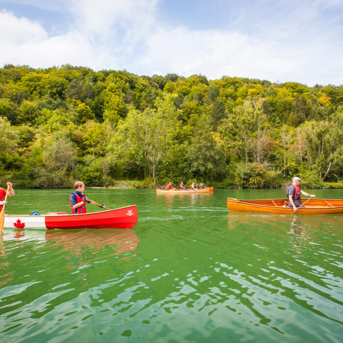 Canoe trekking on the Meuse river