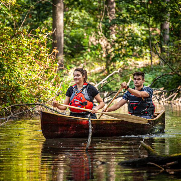 paddling a Prospector Canoe
