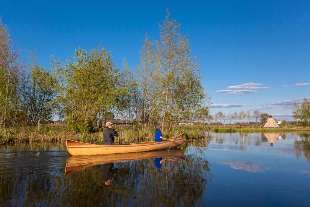 canoeing on the Regge River