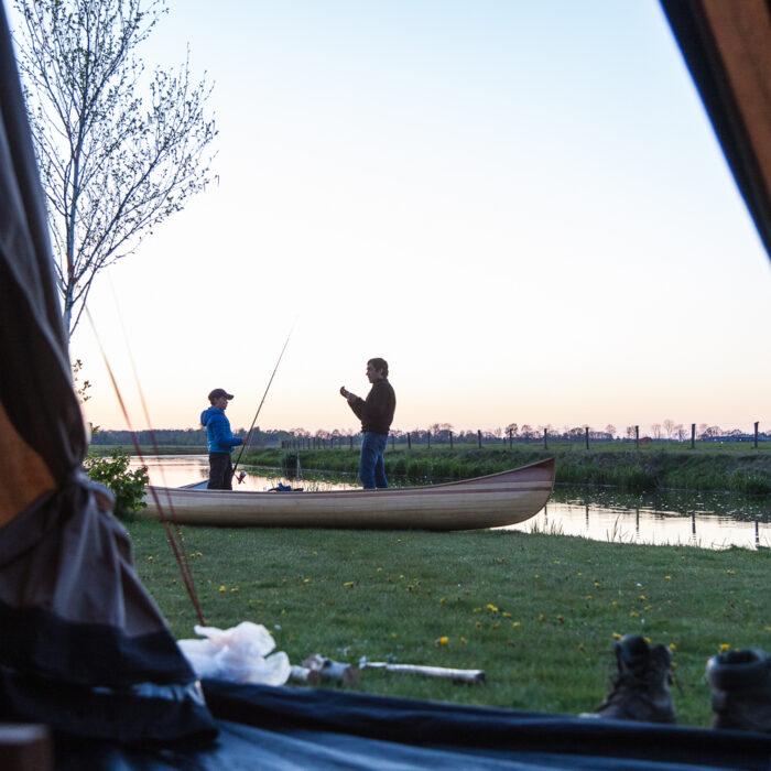 canoeing on the Regge River
