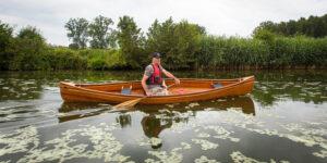 Canoeing on the Dender River