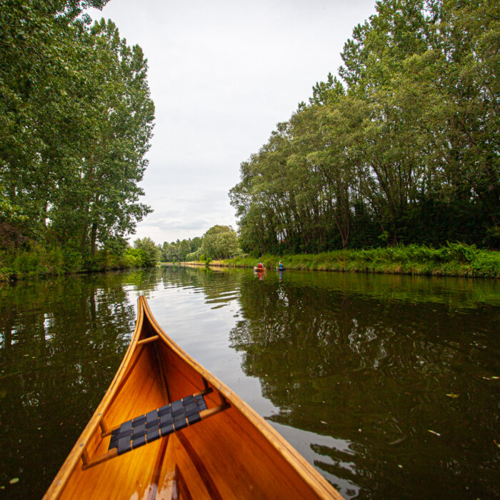 Canoeing on the Dender River