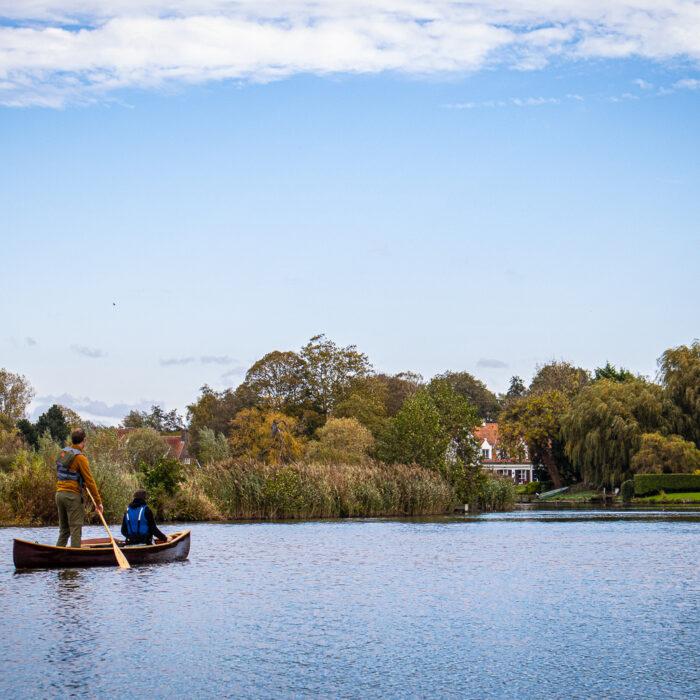 canoeing on the Leie River