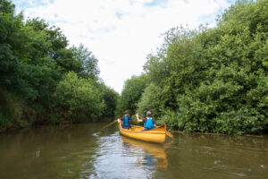 Emiel & thomas canoeing on the Nete River